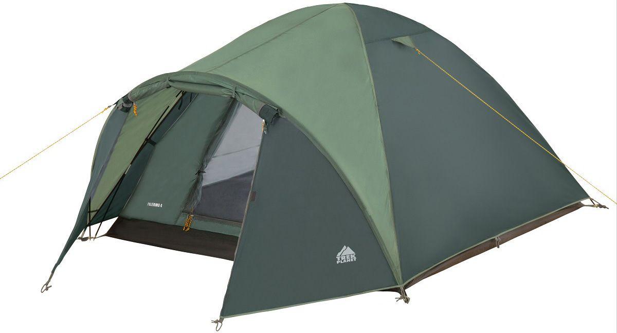 Палатка четырехместная Trek Planet Palermo 4 зеленая