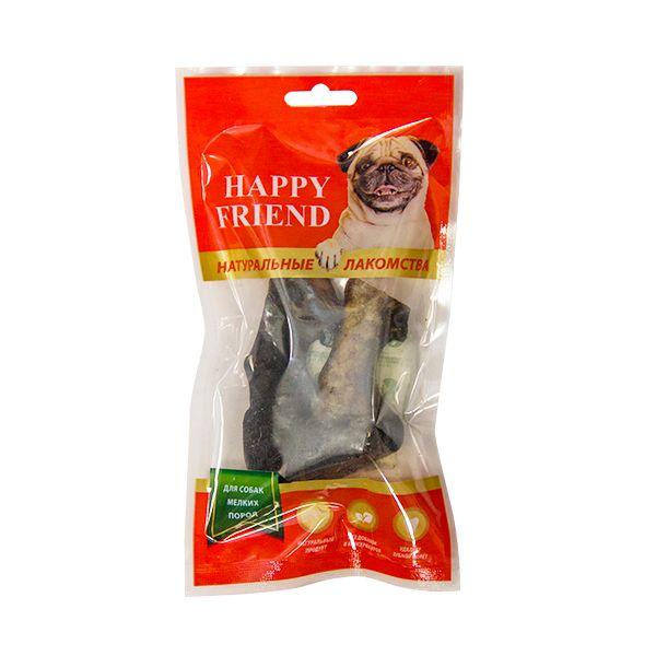 Лакомство для собак HAPPY FRIEND Копытца бараньи для мелких пород 100г.
