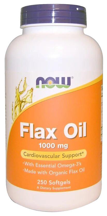 Купить Льняное масло NOW Flax Oil 250 капс.