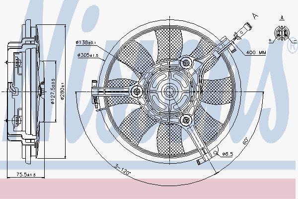 Вентилятор охлаждения двигателя NISSENS 85691
