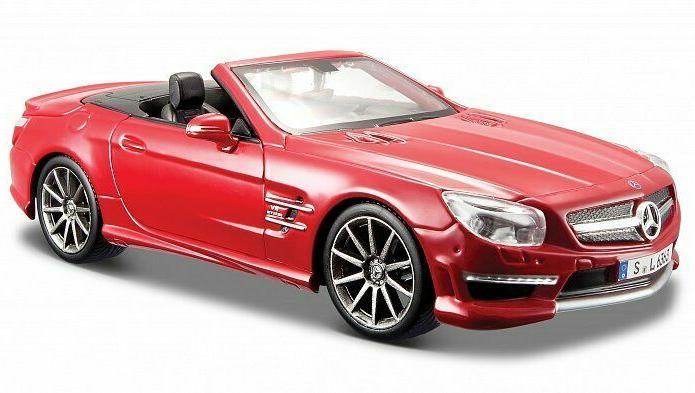 Купить Машинка Maisto красная - Mercedes-Benz SL 63 AMG Cabrio 2012г 1:24, красная, Коллекционные модели