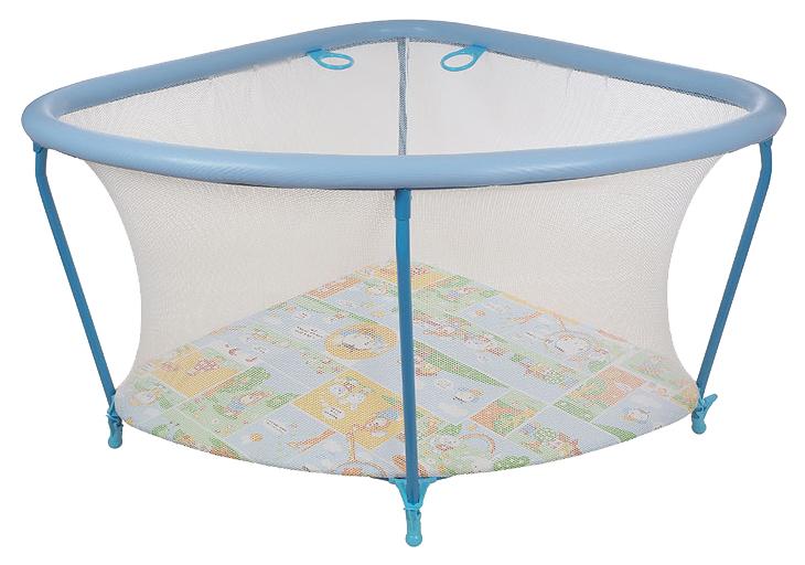 Манеж GLOBEX детский Угол (цвет: голубой) 1102
