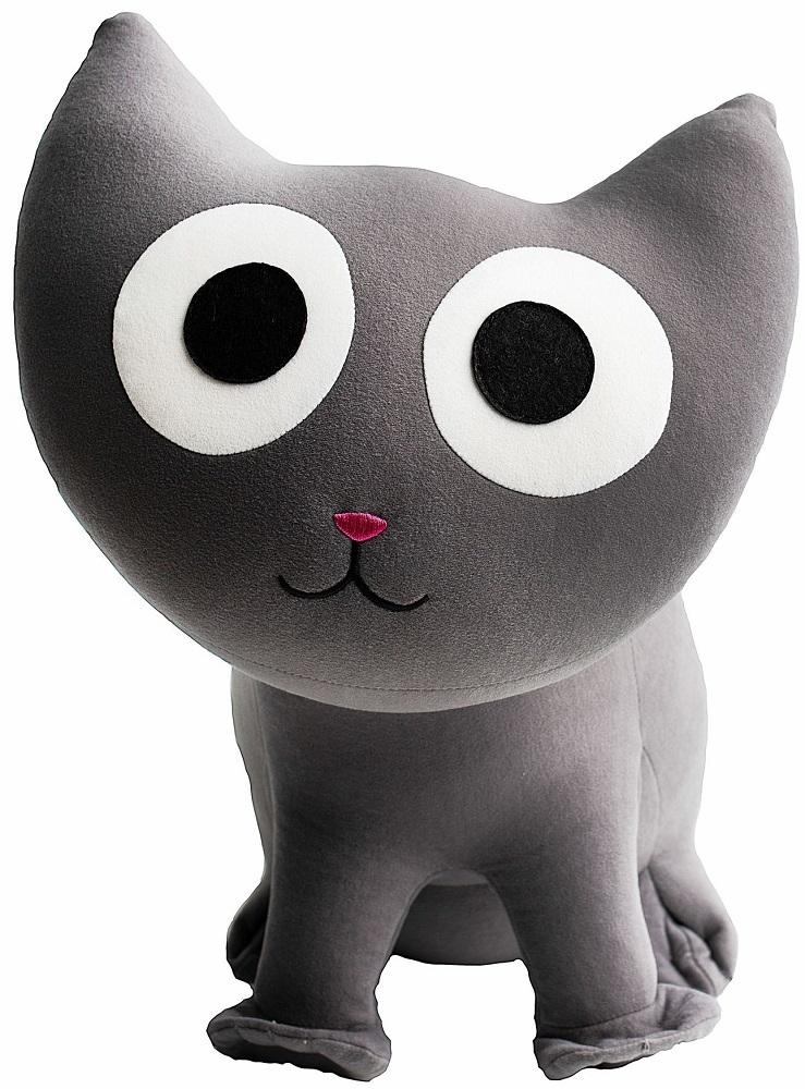 Игрушка-подушка Gekoko Кот серый A022