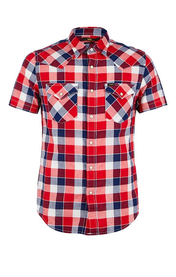 Рубашка Мужская Lee красная 48