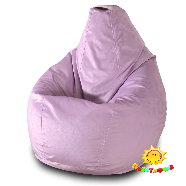 Кресло-мешок Pazitif Груша Пазитифчик Велюр, размер L, велюр, сиреневый фото