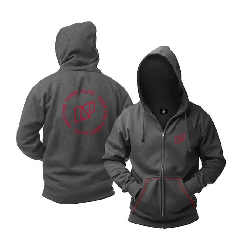 Толстовка NeilPryde Thirst Hoodie VTS Logo, charcoal grey,