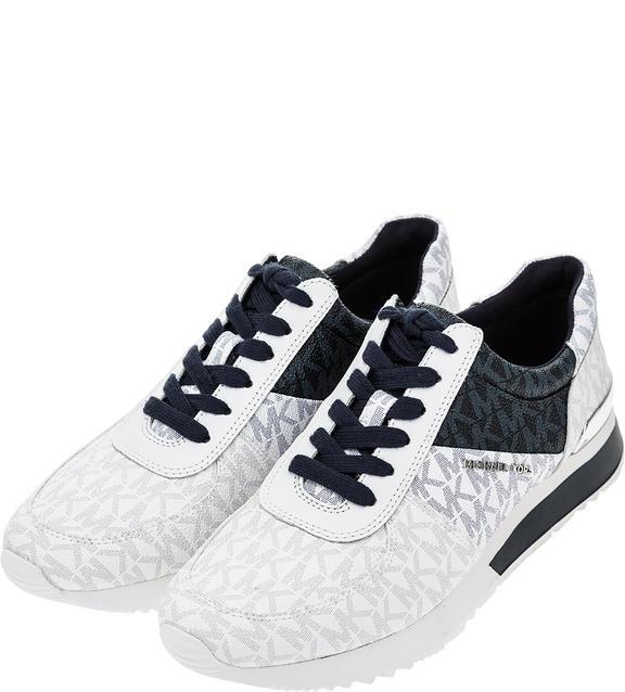Кроссовки женские Michael Kors 43T9ALFS1B 414 белые/синие/черные/серые