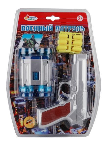 Купить Набор оружия Играем Вместе (Пистолет с мягкими пулями и бинокль) 28x21 см,