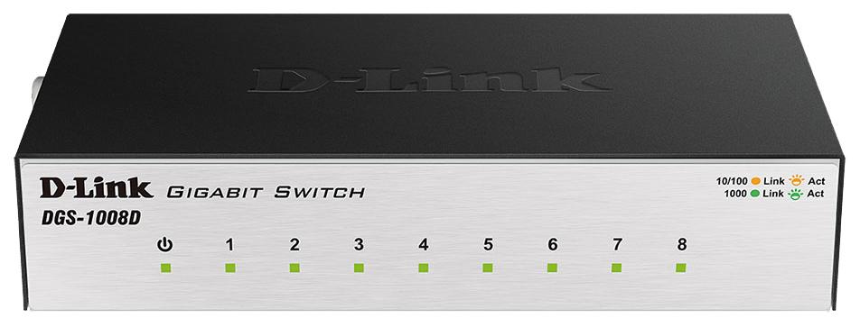 Коммутатор D Link DGS 1008D/J2A Black/Grey