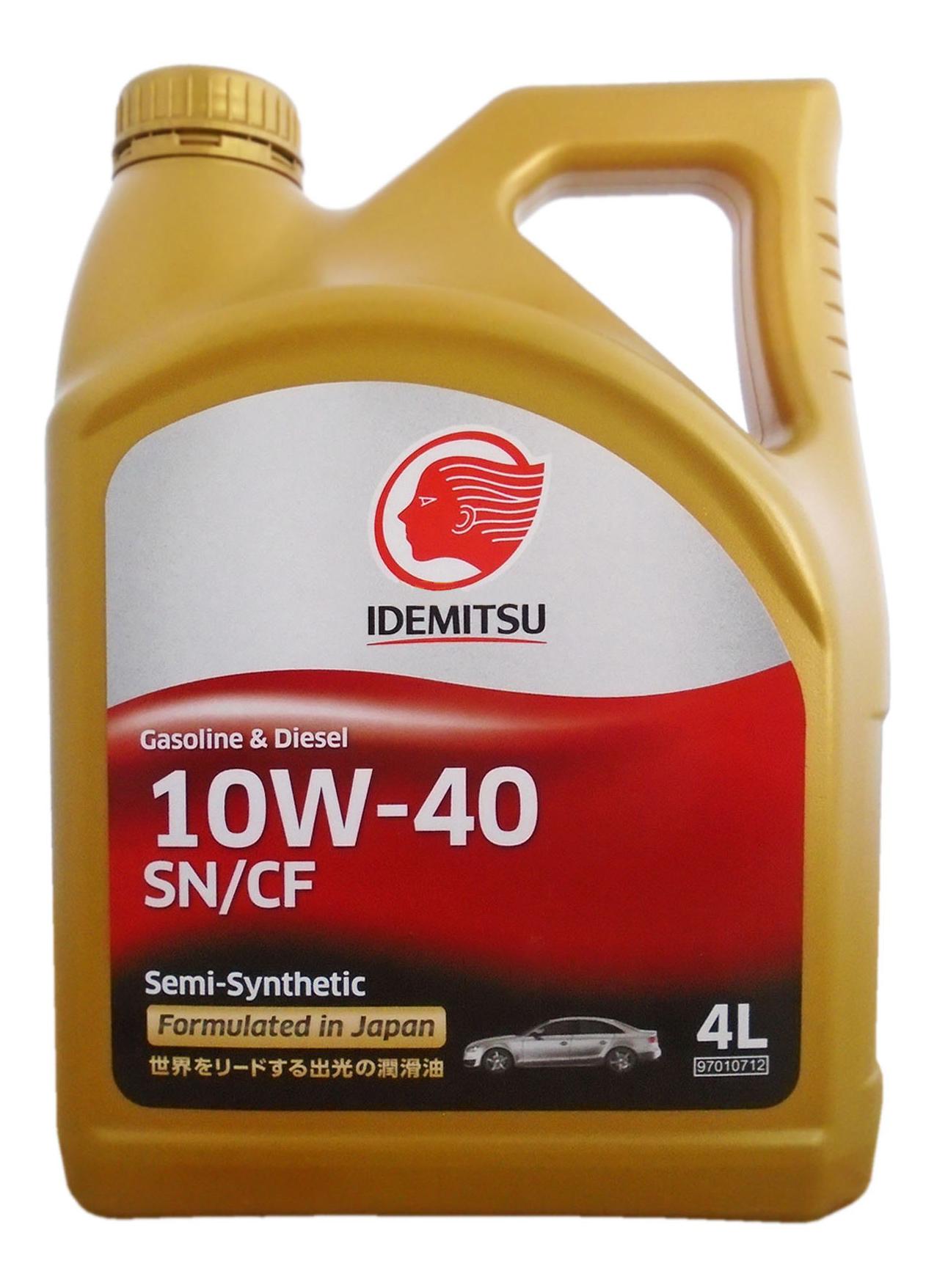 Моторное масло Idemitsu S-S SN/CF 10W-40 4л