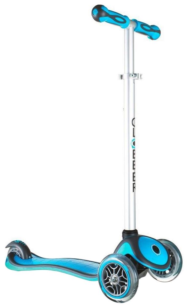 Купить Самокат трехколесный Y-Scoo Globber My free New Technology с блокировкой колес blue aqua, Самокаты детские трехколесные