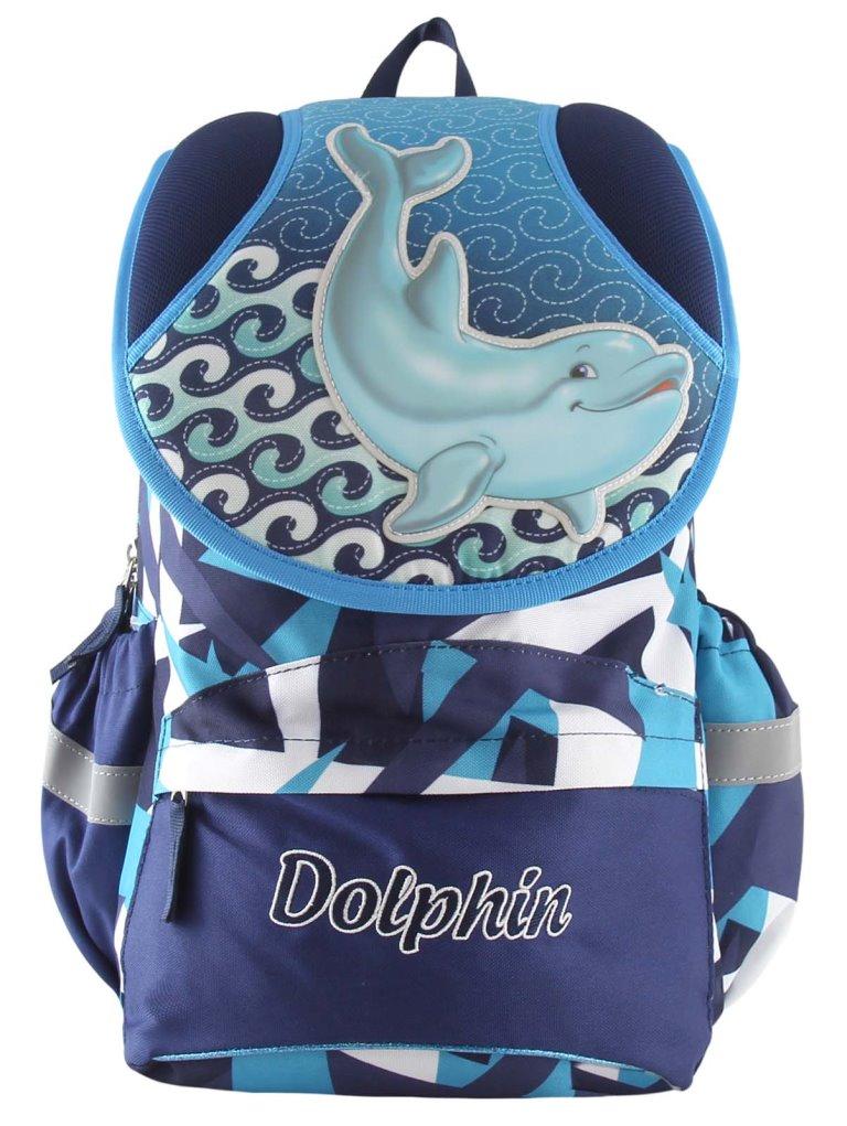 Рюкзак Дельфины синий с голубым 17253