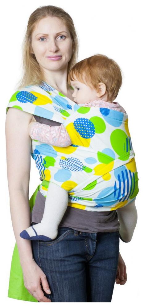 Купить Слинг Чудо-Чадо Детство Круги зеленый МСД10-001, Слинги для новорожденного