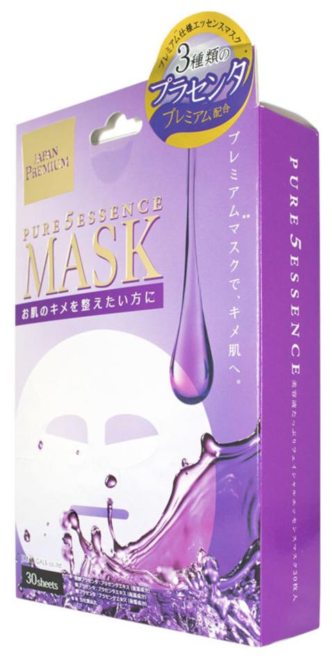 Маска для лица JAPAN GALS Premium c тремя видами плаценты 30 шт