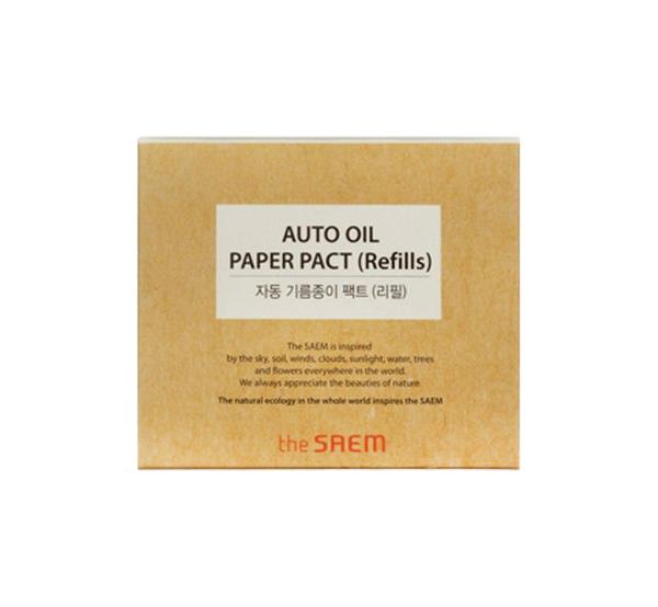 Матирующие салфетки the SAEM Auto Oil Paper Pact Refills 50 шт
