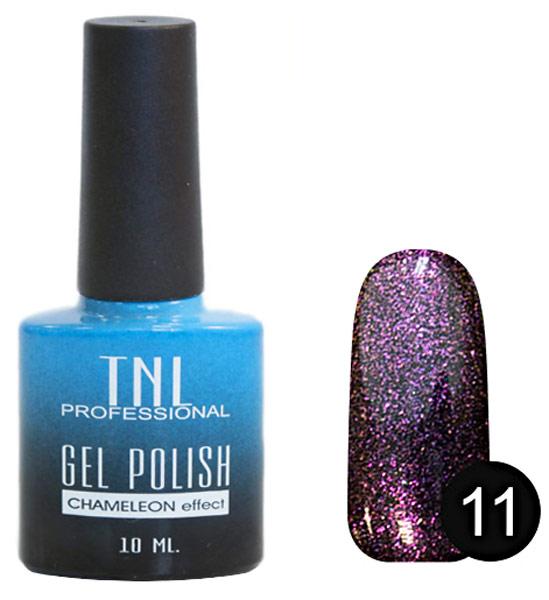 Гель-лак для ногтей TNL Professional Gel Polish Chameleon Effect Collection 11 Пурпурная