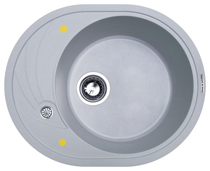 Мойка для кухни гранитная Zigmund #and# Shtain KREIS OV 575 млечный путь