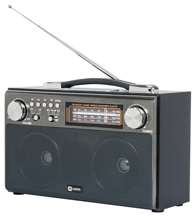 Радиоприемник Harper HDRS-033 Black фото