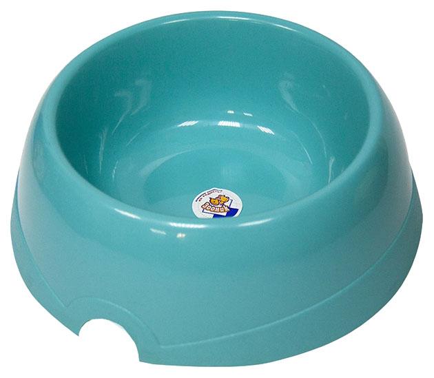 Одинарная миска для грызунов Зооник, пластик, голубой,