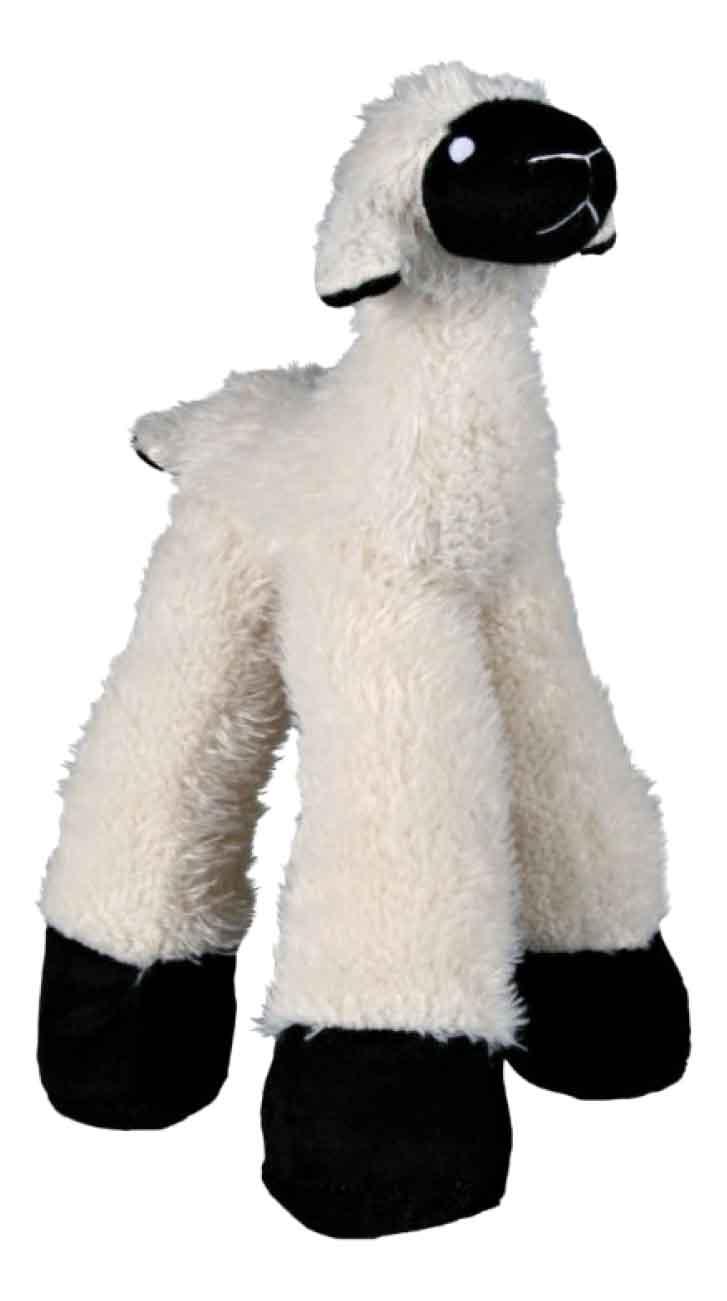 Мягкая игрушка для собак TRIXIE Овца длинноногая, белый, черный, 30 см фото