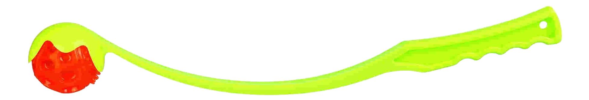 Запускатель мячей для собак TRIXIE Катапульта со светящимся мячиком, в ассортименте, 50 см фото