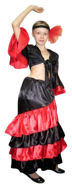 Карнавальный костюм Бока Испанка, цв. черный р.122