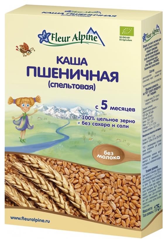 Купить Пшеничная (Спельтовая) 175 г, Безмолочная каша Fleur Alpine Пшеничная (Спельтовая) с 5 мес 175 г, Детские каши