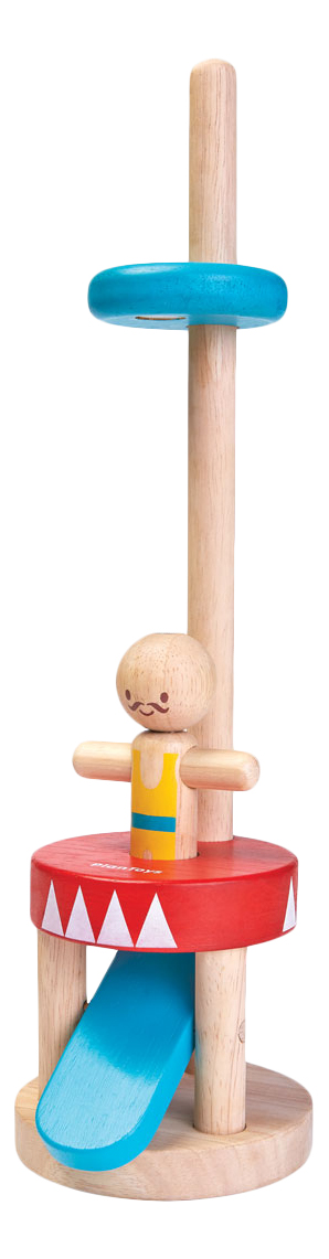 Купить Деревянная игрушка для малышей PlanToys Прыгающий акробат, Развивающие игрушки