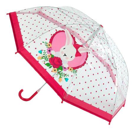 Зонт детский Mary Poppins леди мэри зайка с розой прозрачный 46 см 53599