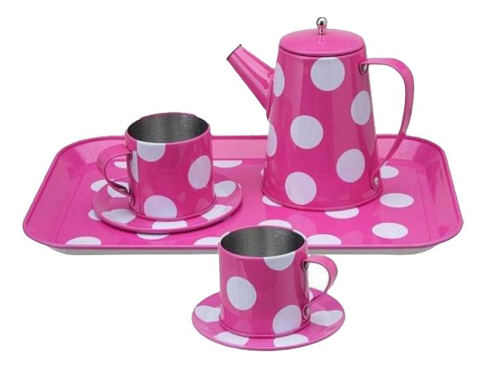 Чайный сервиз ALEX Розовый в горошек 705PD 7 пр.