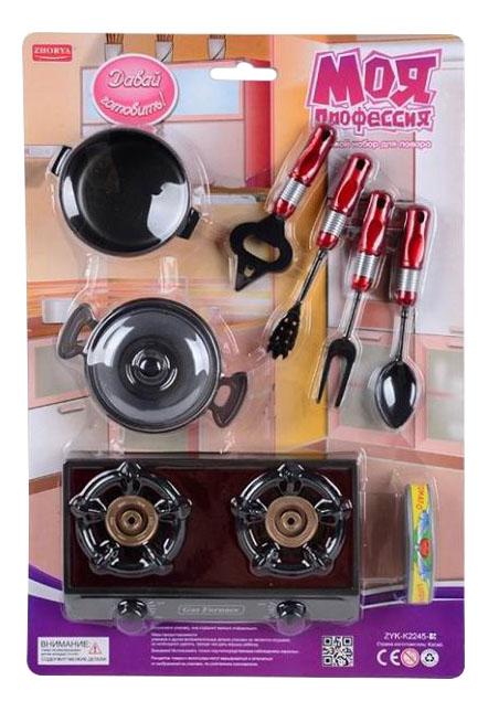 Купить Давай готовить, Игровой набор Zhorya повара моя профессия zyk-k2245-3, Детская кухня