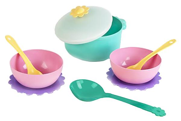 Купить Набор посуды игрушечный Mary Poppins Бабочка для готовки 9 пр в сетке 39321, Игрушечная посуда