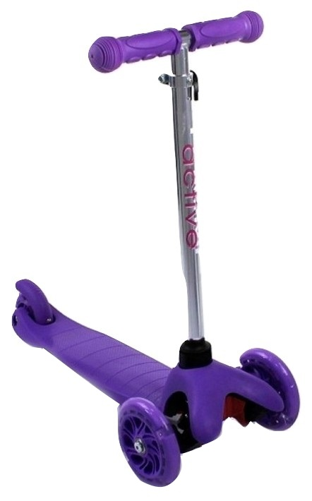 Купить Самокат трехколесный Triumf Active 06AHpu фиолетовый, Самокаты детские трехколесные