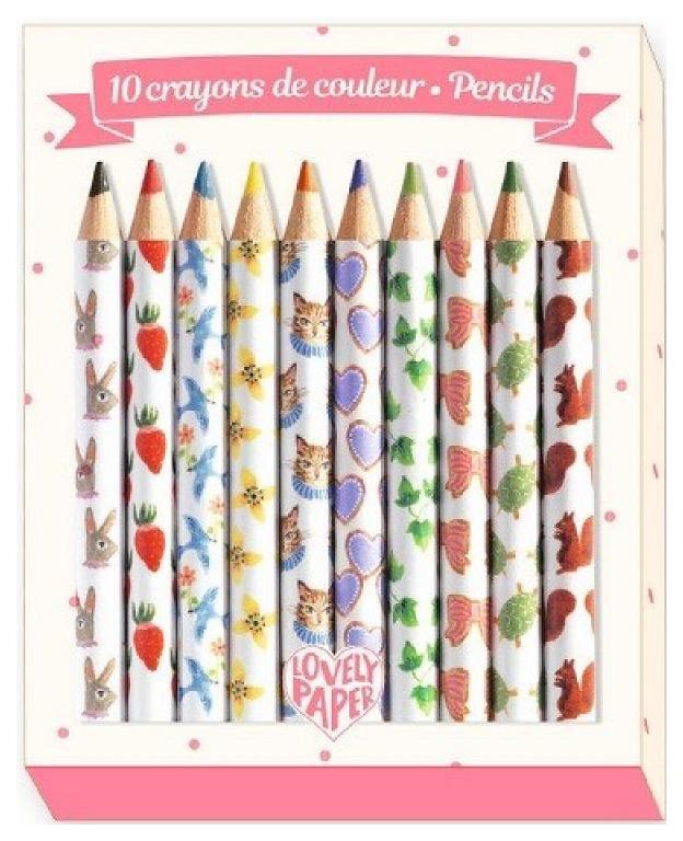 Купить Цветные карандаши Djeco Аико DD03725, 10 штук, Карандаши
