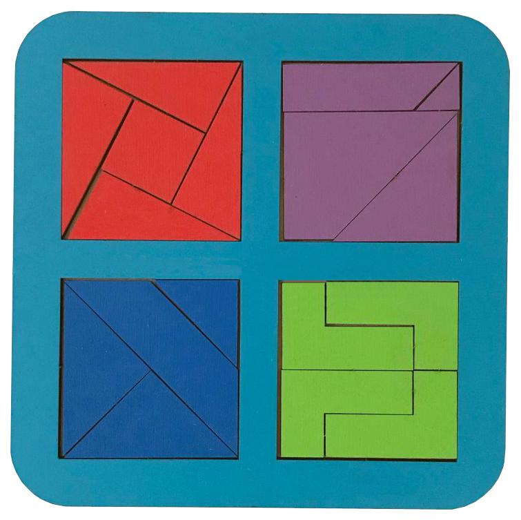 Купить Пазл Сибирский сувенир Сложи квадрат Никитин, 4 квадрата 140*140 мм, Пазлы