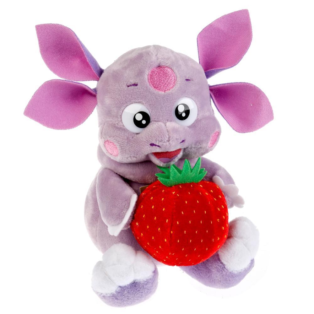 Мягкая игрушка Мульти-Пульти (лунтик и его друзья) лунтик с клубничкой 16 см фото