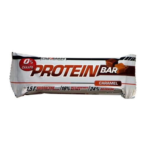 IRONMAN Protein Bar без сахара 50 гр. (Карамель)