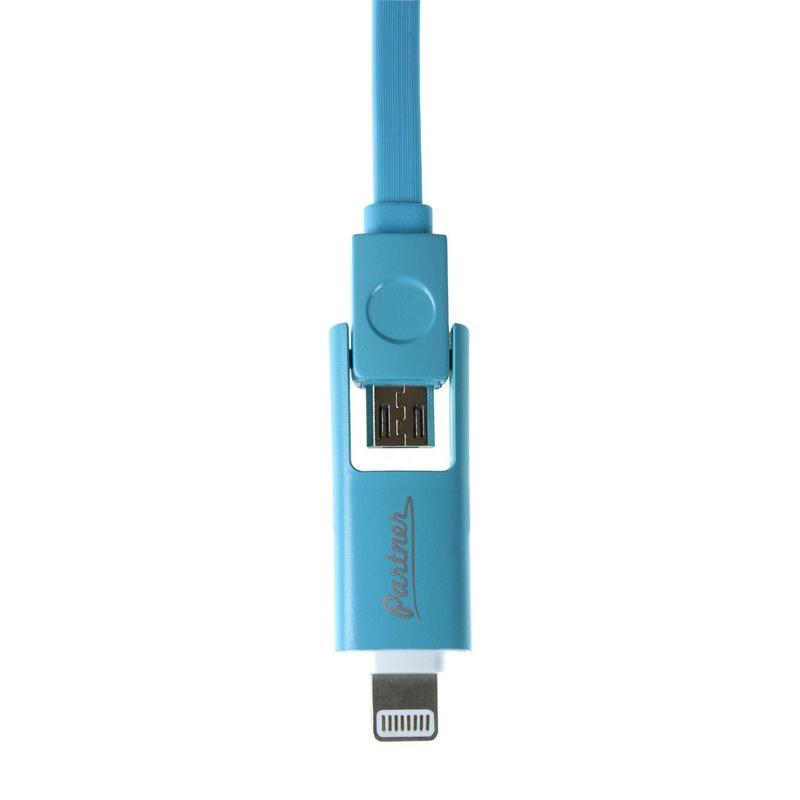 Кабель USB 2.0-microUSB/Apple 8 pin, 1 метр