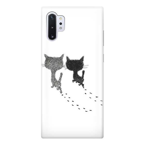 Чехол Gosso Cases для Samsung Galaxy Note 10+ «Кошачьи следы»  - купить со скидкой