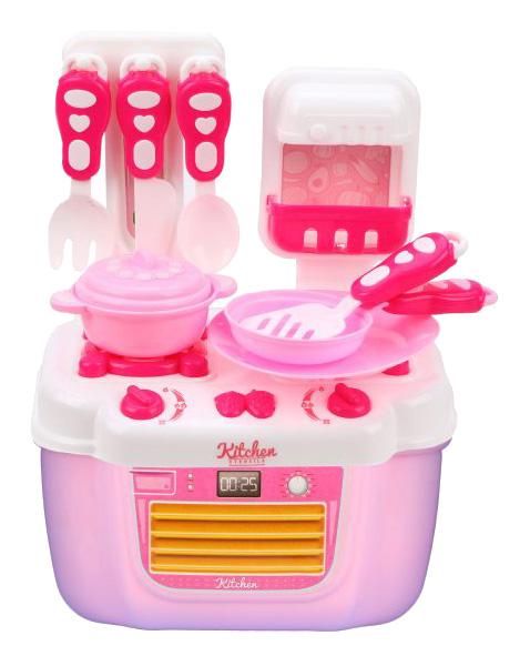 Купить Игровой набор Плита с посудой 21 предмет, в ассортименте, Наша игрушка, Детская кухня