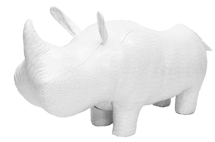 Пуф Leset Носорог Белый