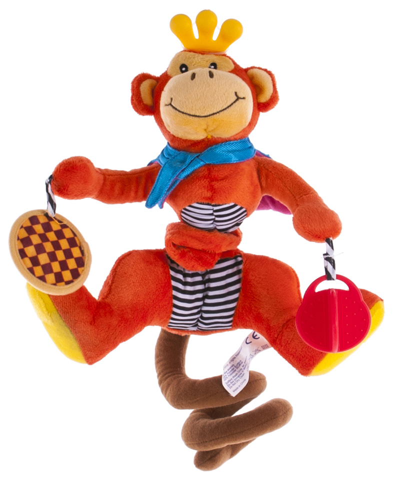 Купить BIBA TOYS Развивающая игрушка-спираль ОБЕЗЬЯНКА 40x28x27 см JF061, Развивающие игрушки