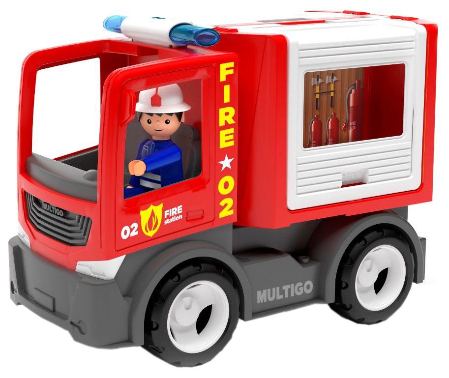 Купить Пожарный грузовик для команды с водителем, Efko, Машинки-трансформеры