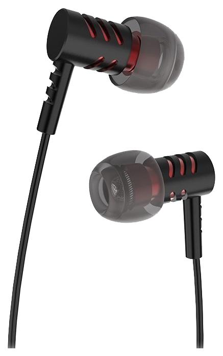 Наушники вкладыши с микрофоном Hoco M48 Keen Sound Black, мобильная гарнитура, черные