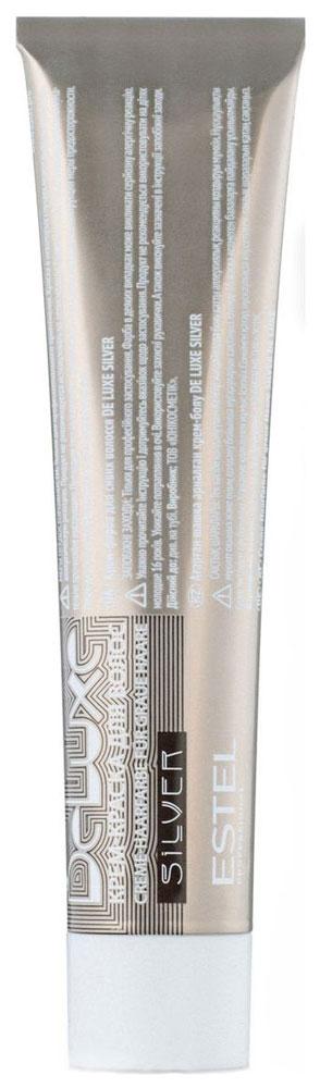 Краска для волос Estel De Luxe Silver 4/75 Шатен коричнево-красный 60 мл