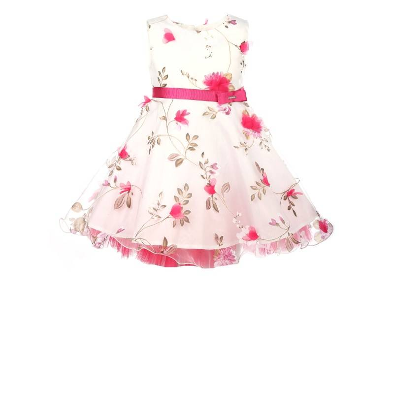 Купить Платье Весна-органза UNONA D'ART, цв. белый, 128 р-р, Детские платья и сарафаны