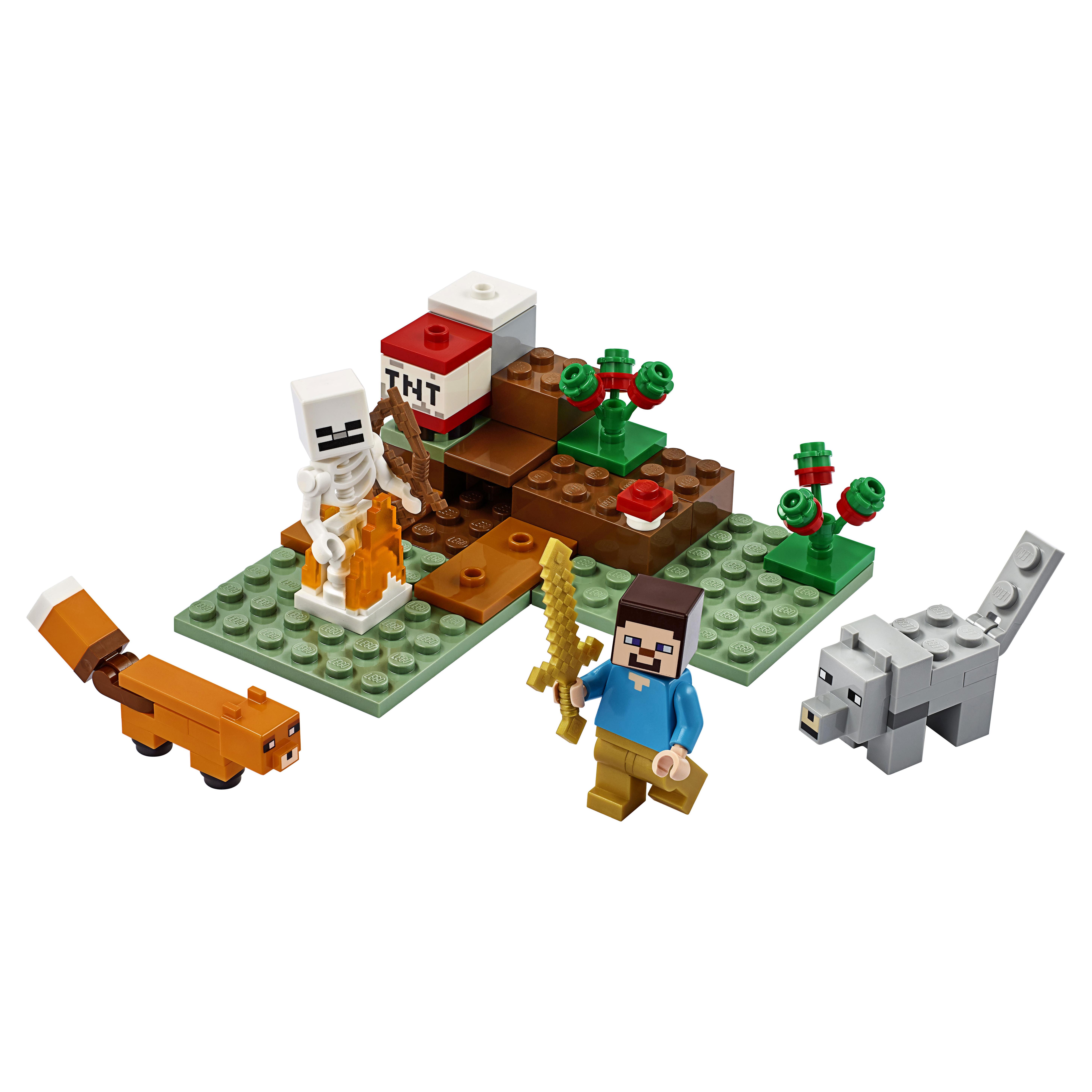 Купить Конструктор LEGO Minecraft 21162 Приключения в тайге