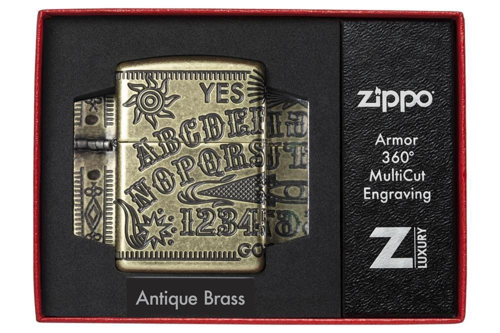 Зажигалка Zippo Armor Antique Brass фото