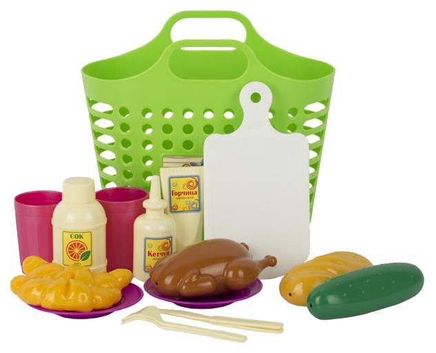 Купить Игровой набор Пикник (18 предметов), Совтехстром, Игрушечные продукты
