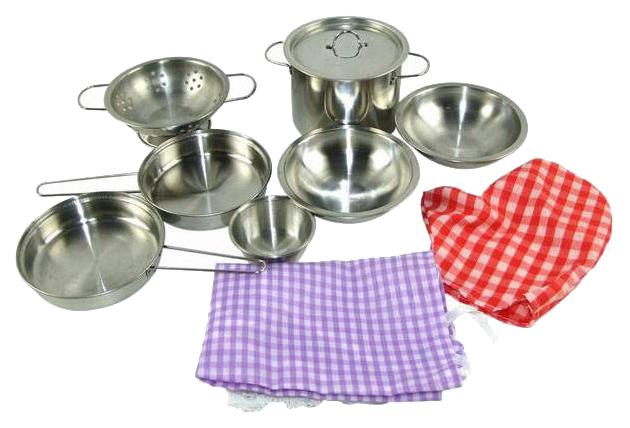 Игрушечная посуда ABtoys Для Кухни Помогаю Маме 11 Предметов 82854-TN
